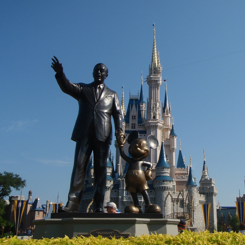 Partners Statue and Cinderella Castle